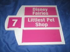 TOYS R US Exclusive Store Display/Sign ~DISNEY FAIRIES / LITTLEST PET SHOP