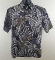 Hilo Hattie Hawaiian Camp Shirt Mens Size M Authentic USA Aloha Caribbean Luau