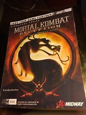 Mortal Kombat Deception Brady Games Official Strategy Guide PS2 XBOX GC w/Poster