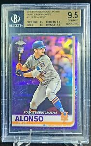 Topps Chrome Update Purple Refractor Pete Alonso ROOKIE CARD RC BGS 9.5 #46/175