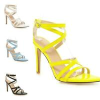 Womens Stilettos High Heel Buckle Open Toe Slingback Straps Casual Sandals Shoes