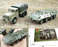 2 pcs US M35 Cargo Truck Models & BTR-80 Armored Personnel Carrier Model Kits