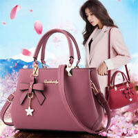 Women Large PU Leather Handbag Shoulder Bag Messenger Satchel  Crossbody Tote