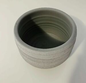 Chic Concrete Ceramic Rounded Pots 15cm - GREY