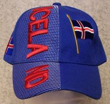 Embroidered Baseball Cap International Iceland NEW 1 hat size fits all