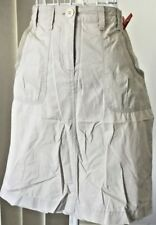 Ladies Skirt Cotton Taupe/Khaki/Natural Sz 8 Au VGUC