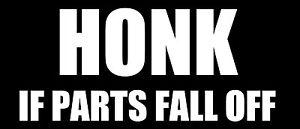 Honk funny car van, bumper, windows, laptop, lorry JDM vinyl decal sticker
