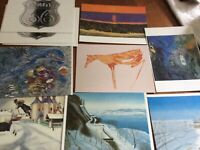 Collectible European postcards by artists - set of 10
