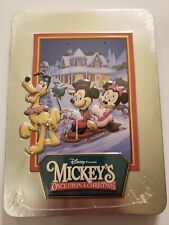 Disney Presents Mickey's Once Upon a Christmas (DVD) Collectible Tin New Sealed