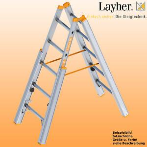 Layher Alu Treppenstehleiter  2x5 - 2x8 Sprossen, Bockleiter, Topic Typ 1061