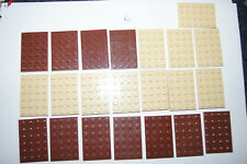 Lego 22 4 x 6 BROWN PLATES / Blocks # 3032 House / Castle / Plane (Ra) GENUINE
