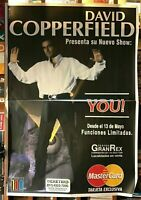 Rare David Copperfield Magician YOU  2 Sheets Argentina Show 1997
