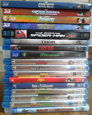 3D BLU-RAY LOT of 17 Movies Marvel Avengers Civil War Guardians Spider-Man +MORE