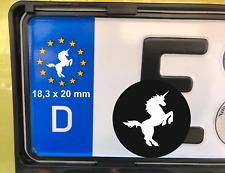 4x Nummernschild Aufkleber Einhorn Unicorn Sticker EU Plakette Kennzeichen