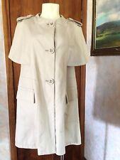 Women Max & Co Beige Tan Khaki Trench Coat Jacket sherlock holmes Style Size 6