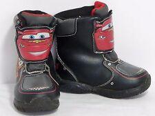 Disney Pixar Cars Black Red Light Up Velcro Close Snow Winter Boots Boy's 7 VGC