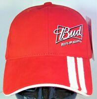 BUD King of Beers NASCAR #9 Kasey Kahne Men's Red Racing Stripe Hat Budweiser