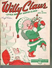 Willy Claus Little Son of Santa Claus 1952 Christmas Sheet Music