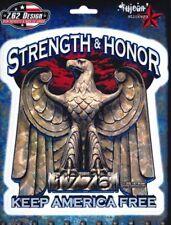 Pegatinas 7.62 Design Strength & honor 14,1x16 cm YuJean military sticker