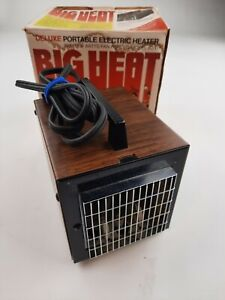 Vintage Big Heat 6200 Cube Space Heater 1500/1200 Watt Made In USA With Box