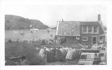Lobster Pots Mohegan Maine Seafood Industry RPPC Photo #549 Postcard 11014