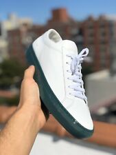 NEW Common Projects Men's Achilles Low Leather Sneakers White Green Sole 44/ 11