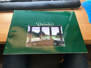 DAIMLER CAR RANGE Sales Brochure 1984 4.2 - DOUBLE SIX - Limousine