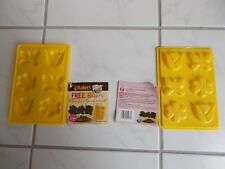Candy Molds Bakers Chocolate Molds 2 Sets Butterfly Flower Tulip New Old Stock