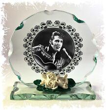 Elvis Presley, Blue Suede Shoes,, Cut Glass Round Plaque Christmas Edition #1
