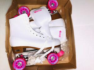 Chicago CRS400 Women's Classic Quad Rink Roller Skates, White, 10 New/Open Box