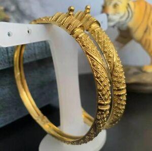 Dubai 22Ct Gold Plated Guaranteed High Class Bangel Breclet Bridal Karra Kurta