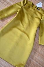HALLHUBER wunderschönes Twill Etuikleid Kleid Gr. 36 / UK 8 neu Chartreuse
