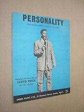 Personalità. LLOYD Price. 1959. ORIGINALE VINTAGE SPARTITO Score