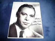 Herbert Lom signed autographe 20x25 CM en personne la panthère rose (+2012)