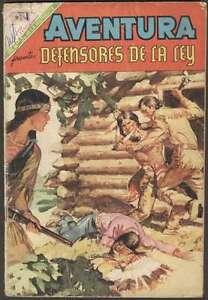 Aventura #592 Defensores De La Ley Comic Spanish Mexican Novaro