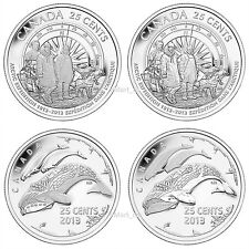 2013 25-Cents 100th Anniversary of the Canadian Arctic Expedition - 4 pack
