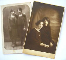 1920´s Young Ladies w/ Elegant Flappers Hairstyle & Finger Wave 2 Photo Pc