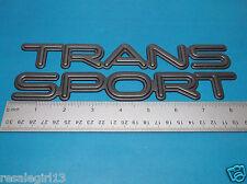 Pontiac Trans Sport Black Gray Front Side Door Emblem Nameplate Badge Set