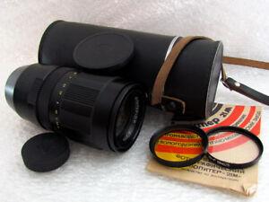 Jupiter 21M F4/200mm USSR M42 SLR Portrait Telephoto Lens to Zenit Pentax Nikon
