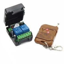 DC12v 10A relay 2CH wireless RF Remote Control Switch Transmitter+ Receiver car