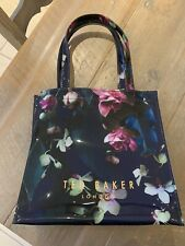 Ted Baker Ladies Floral Rose High Shine Tote Bag Small Immaculate Condition
