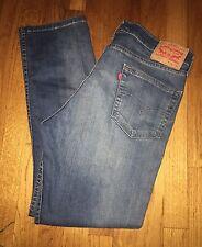 Levi's 511 Blue Medium Wash Skinny Fit Red Tab Men's Jeans Size 34 X 30