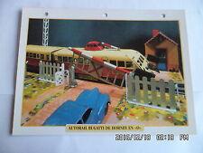 CARTE FICHE TRAIN AUTORAIL BUGATTI DE HORNBY EN O