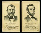 1880s Abraham Lincoln & Ulysses S. Grant Hallack & Co. Clothiers Cards