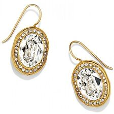 Nwt Brighton Mars French Wire Gold Plated Earrings Crystal Msrp $58