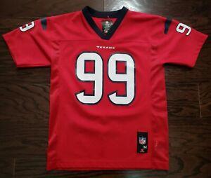 Houston Texasn NFL Football #99 JJ Watt Jersey Youth Size Medium Red Blue Texas