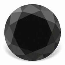 AAA Jet Black Color Loose Moissanite 1.00 Ct Opaque Round Cut For Promise Ring