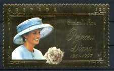 Briefmarke Grenada England's Rose Princess Diana 1961 - 1997 22 K BR200