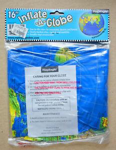 "Replogle 16"" Inflate-A-Globe Topographical - Dark Blue Ocean"