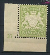 Beieren 74 met Nummerplaat postfris MNH 1911 Staatsembleem (9222472